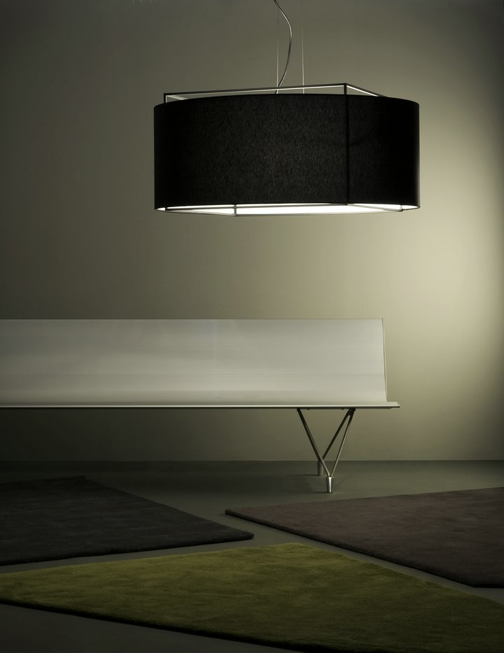 Lewit t (Accessory lampshade) Large for Pendant Lamp Black