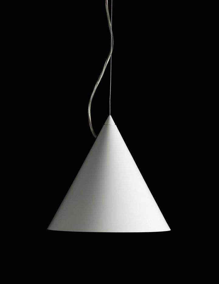 Ray Gr Lámpara colgante E27 70W ø44x200cm Blanco cerámico