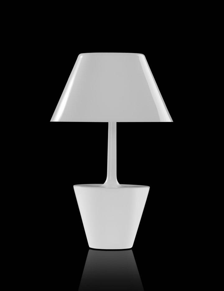 Las santas Teresa Sobremesa E27 70W 46xø30cm Blanco