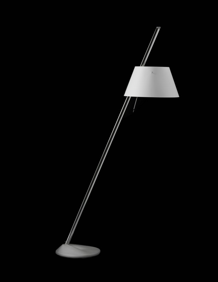 Sinclina Floor Lamp 150x30cm E27 Máx 70W - Anodized Silver