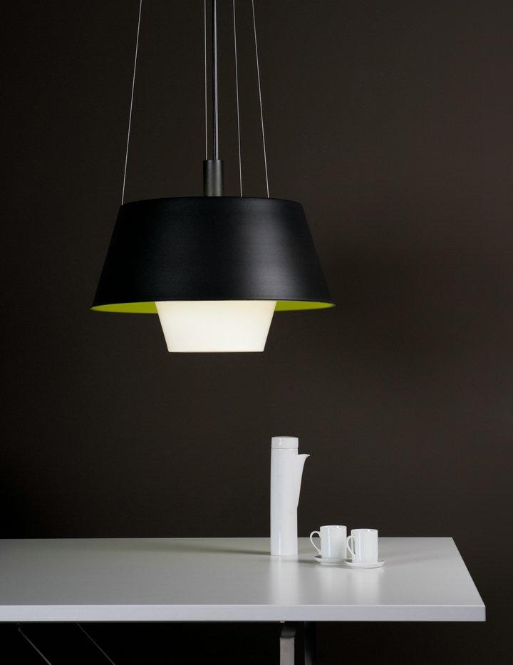 Tanuki pe Lamp Pendant Lamp Black/Green