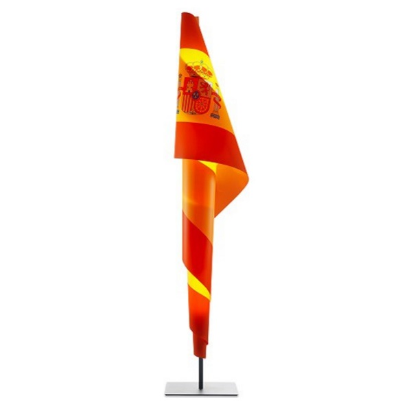 Alta Costura Flag Floor Lamp lampshade customizable