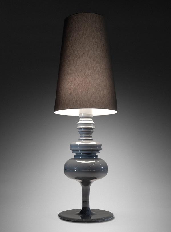 Josephine X Struktur lámpara von Stehlampe edición limitada Grau lava lanzarote