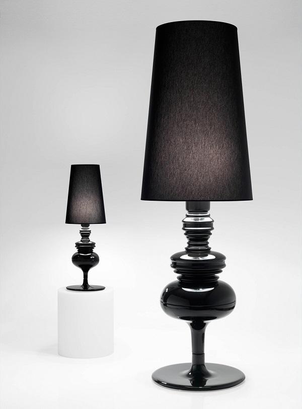 Josephine X Struktur lámpara von Stehlampe Schwarz