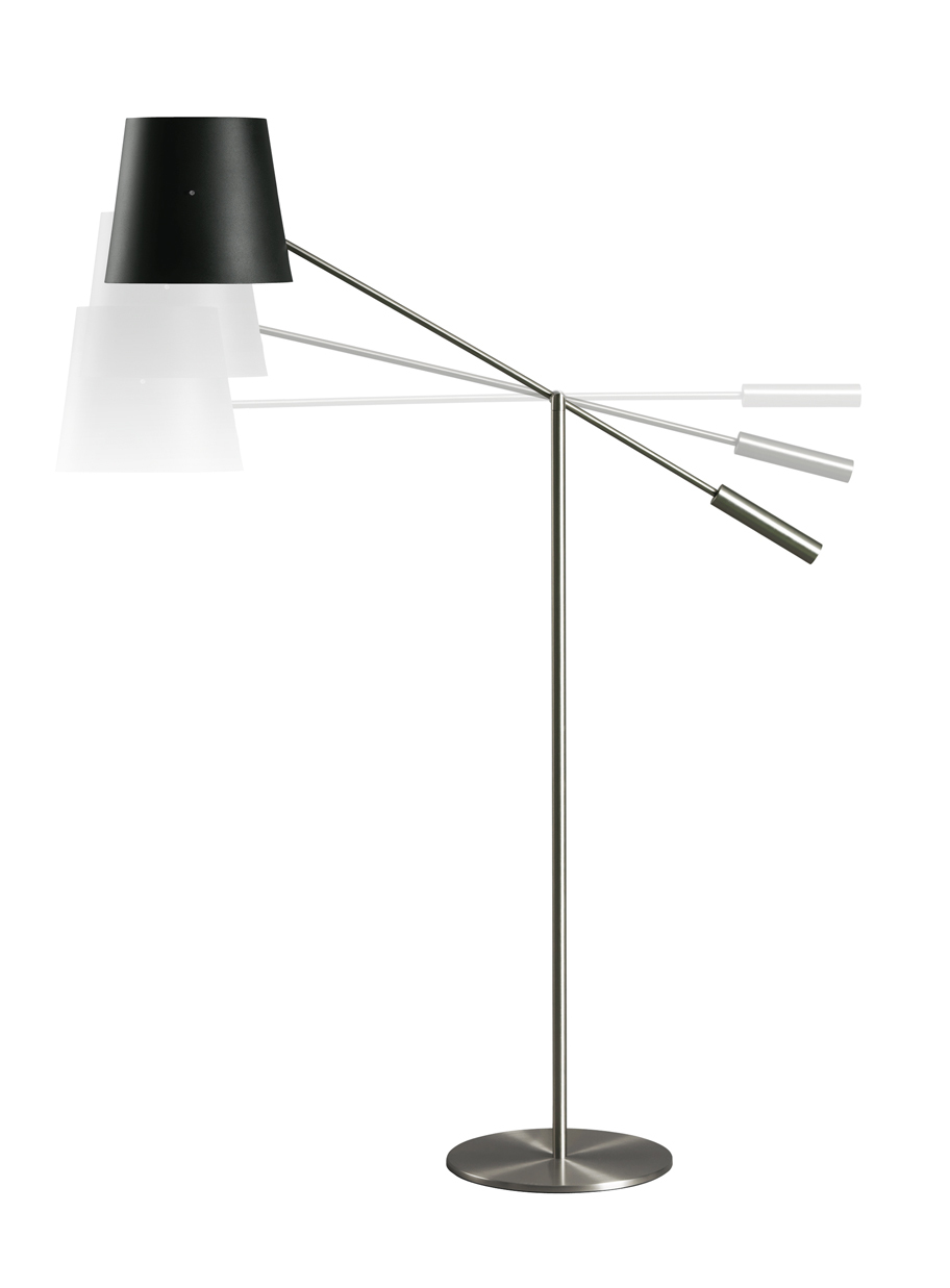 Libra p Floor Lamp Structure Nickel mate