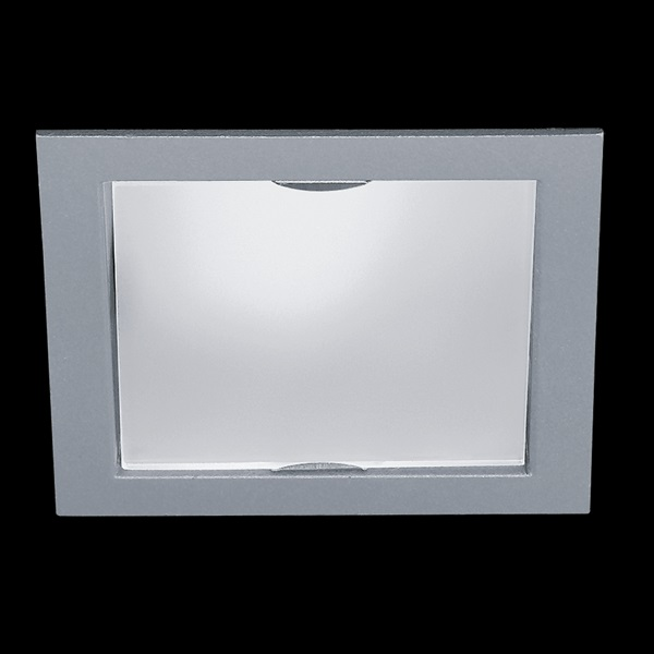 GEMINI 230V Square with Vetro Aluminium