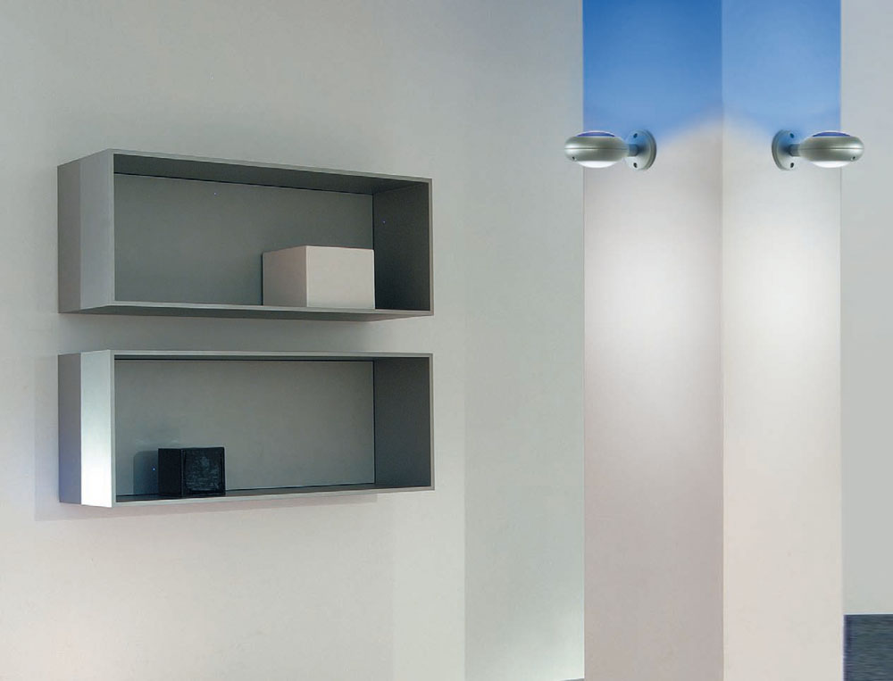 Space Glass Wall Lamp 1 light + Grey without Glass