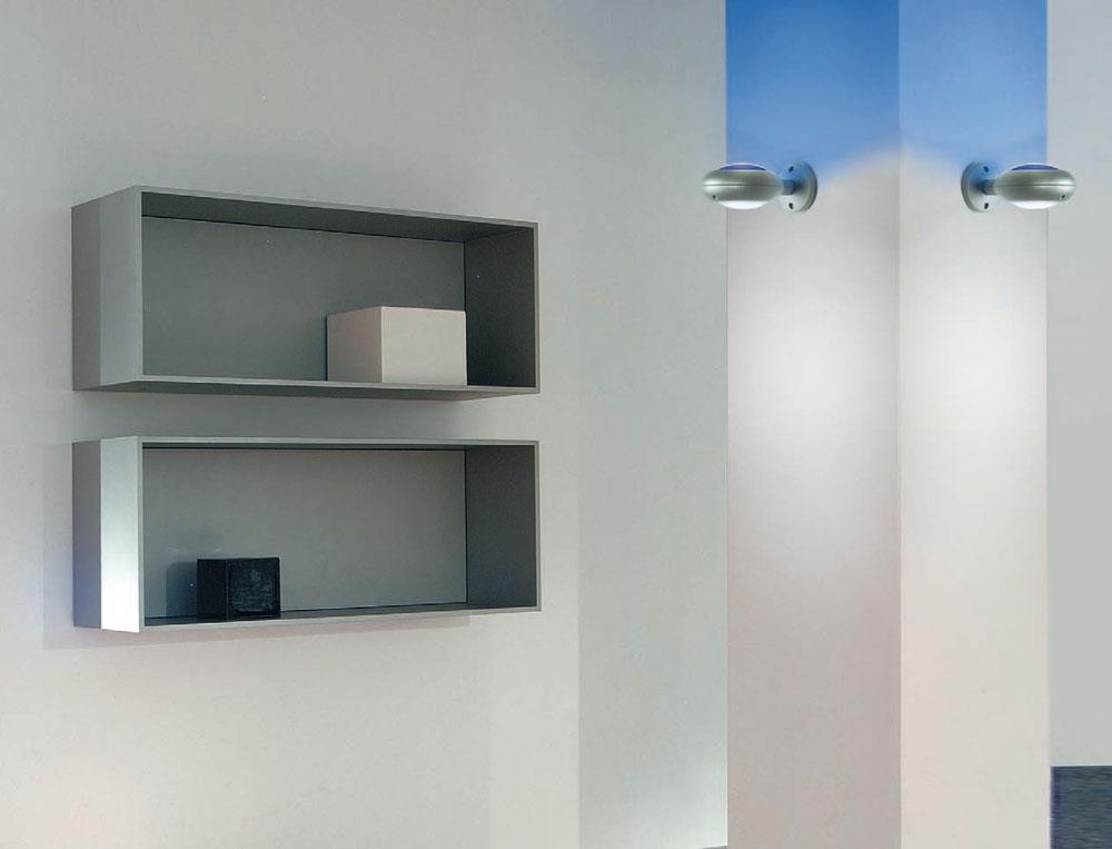 Space Glass Aplique 1 luz + gris sin Cristal