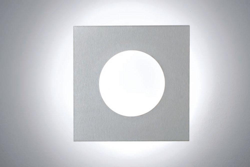 Duo Plafón Cuadrado 18cm G9 42w Aluminio