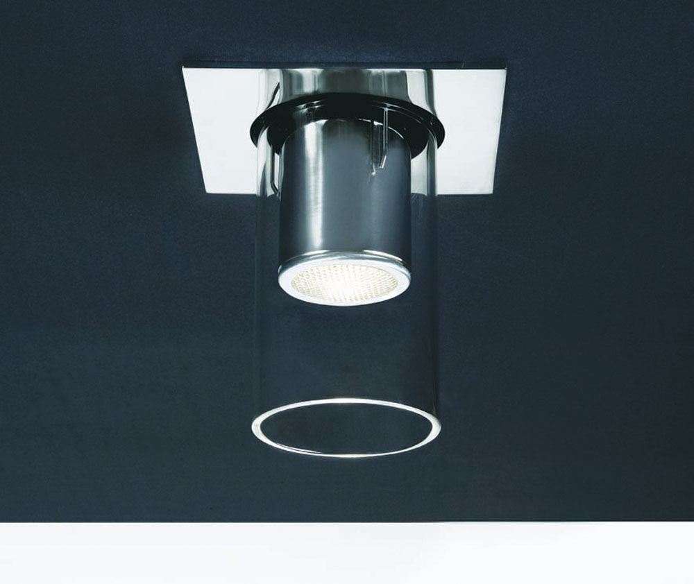 Foco 1 light Recessed chromed