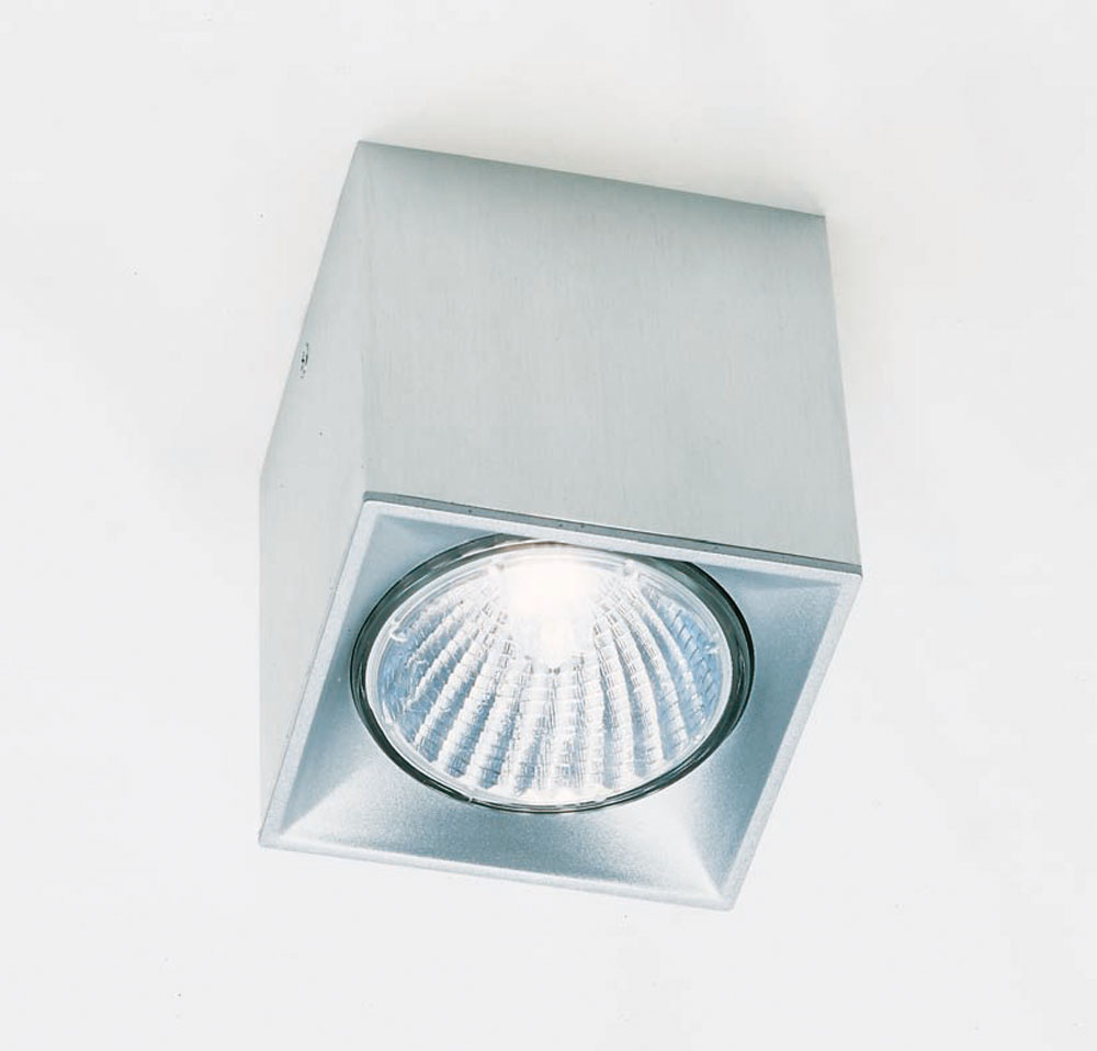 Dau Spot Foco/ceiling lamp 1 light GU10 Aluminium Anodized white