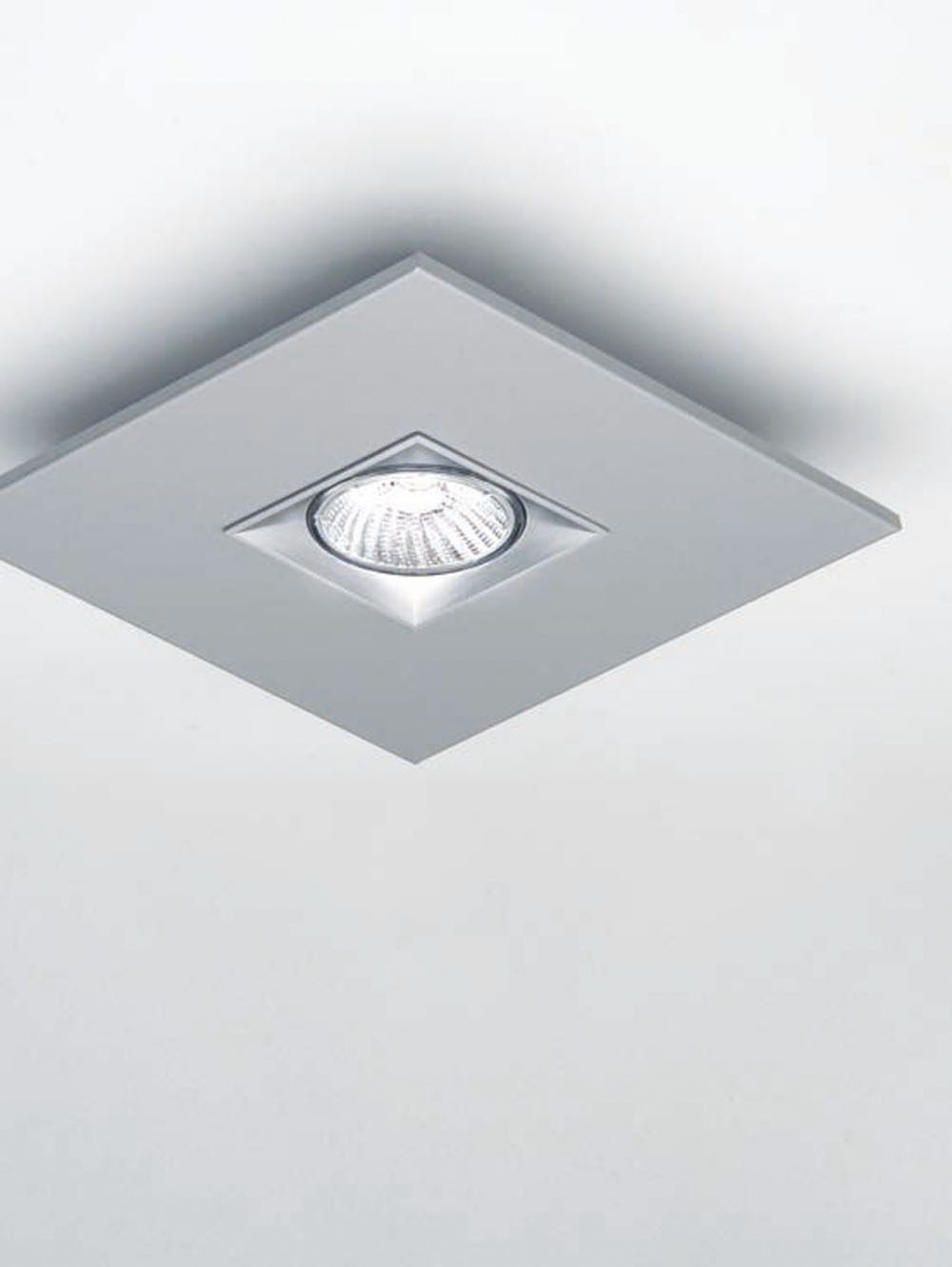 Polifemo ceiling lamp Square 20cm Gu10 75w Grey metallized