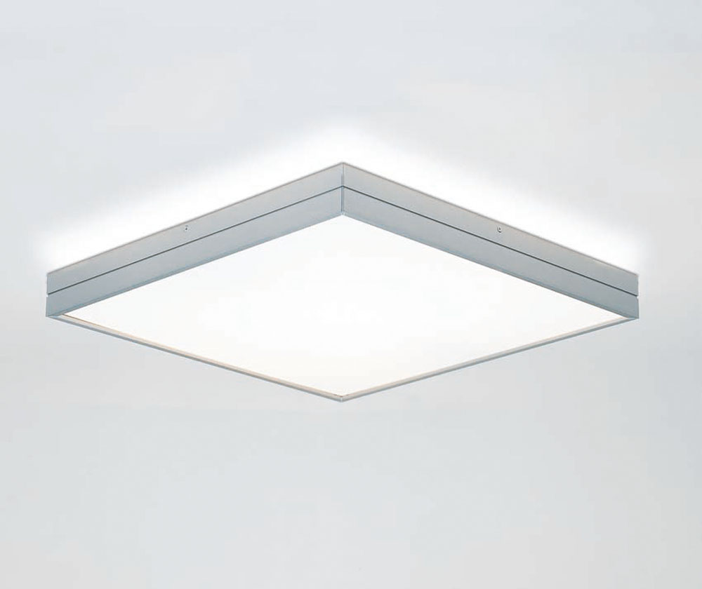 Linea ceiling lamp rectang 2x24w white