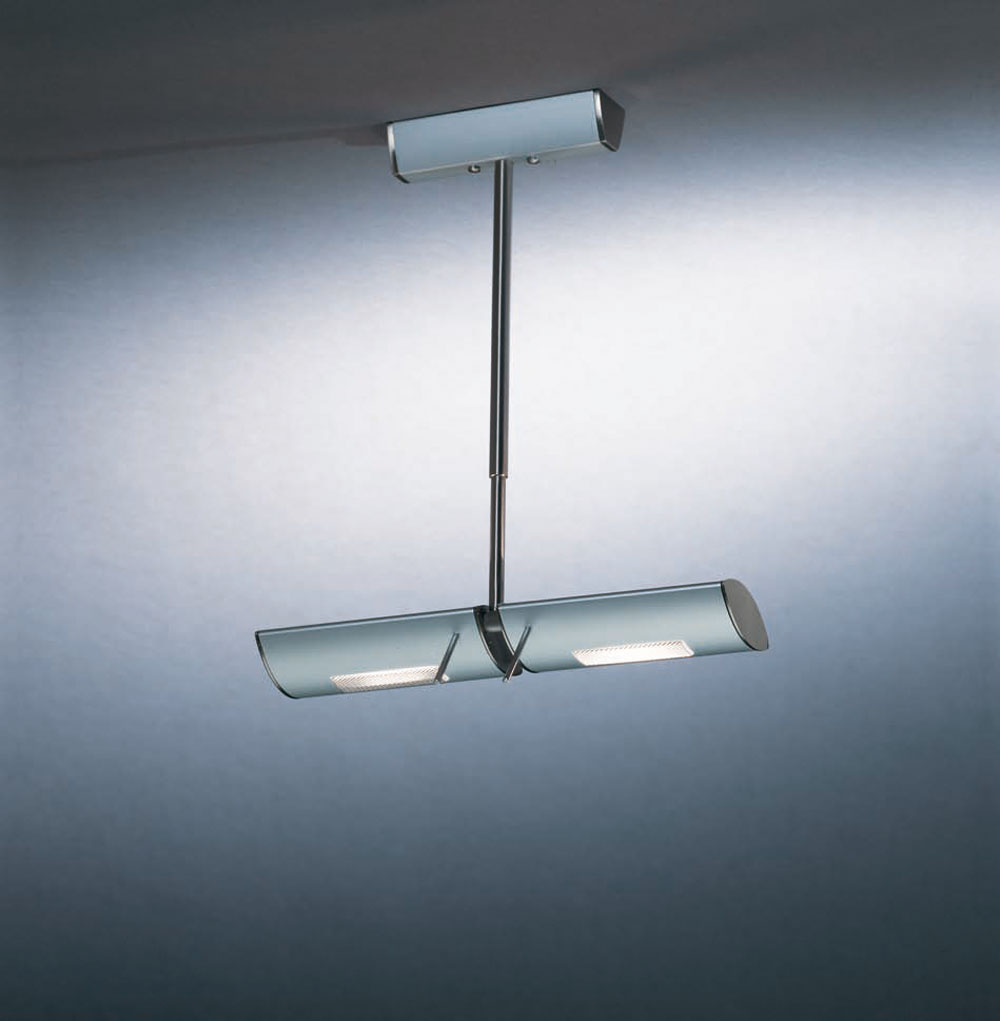 ceiling lamp 2 lights Nikel