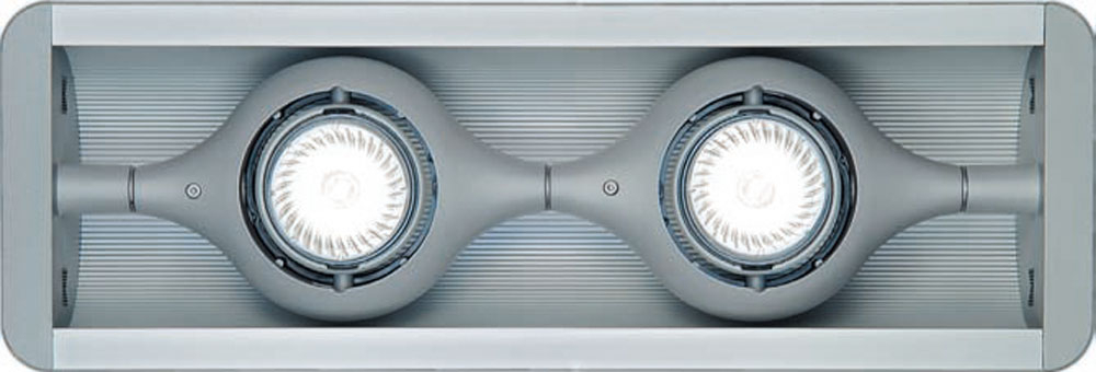 Space ceiling lamp 2 Spotlights + Grey