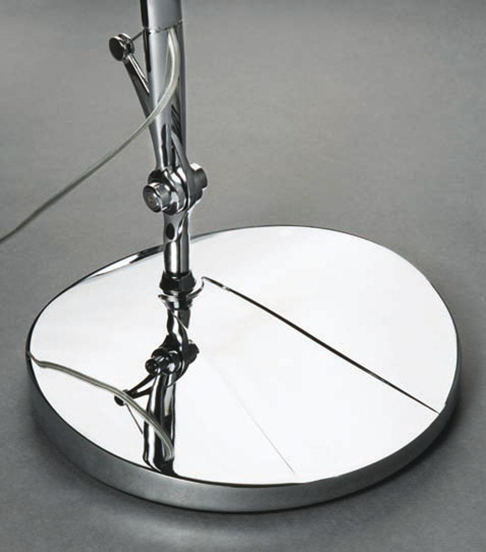 Perceval 06 base of Floor Lamp o Table Lamp chromed