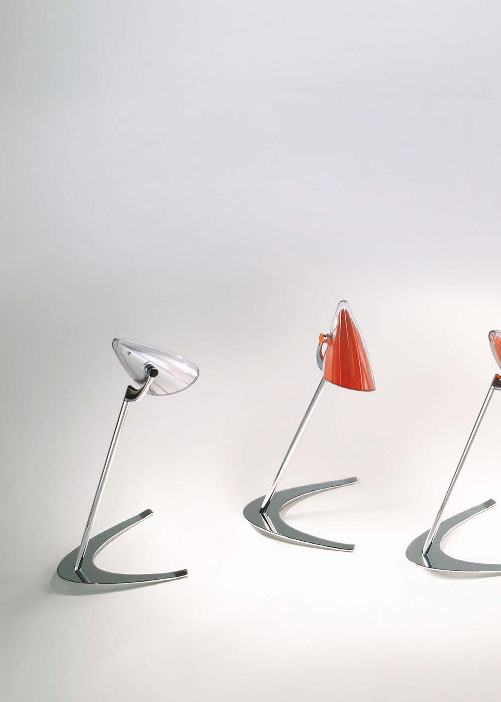 Boomerang Table Lamp Chrome Black