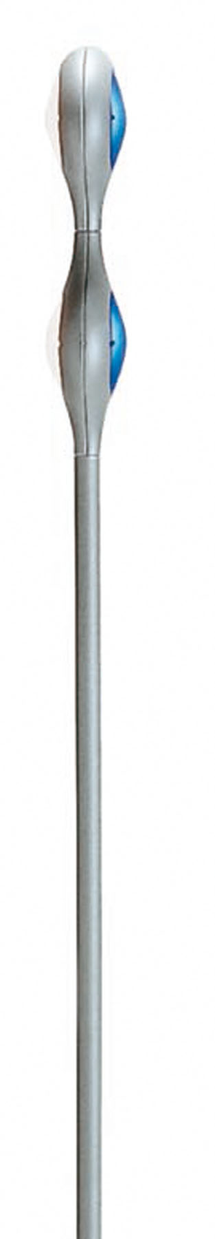 Space Floor Lamp salon 2 lights + Grey without Glass