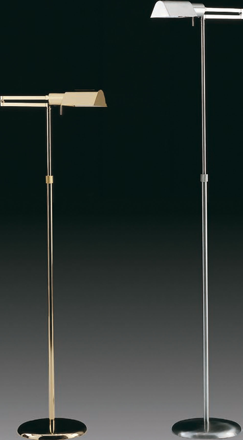 Elea Reading Floor Lamp salon lampshade metal Gold 24 klt