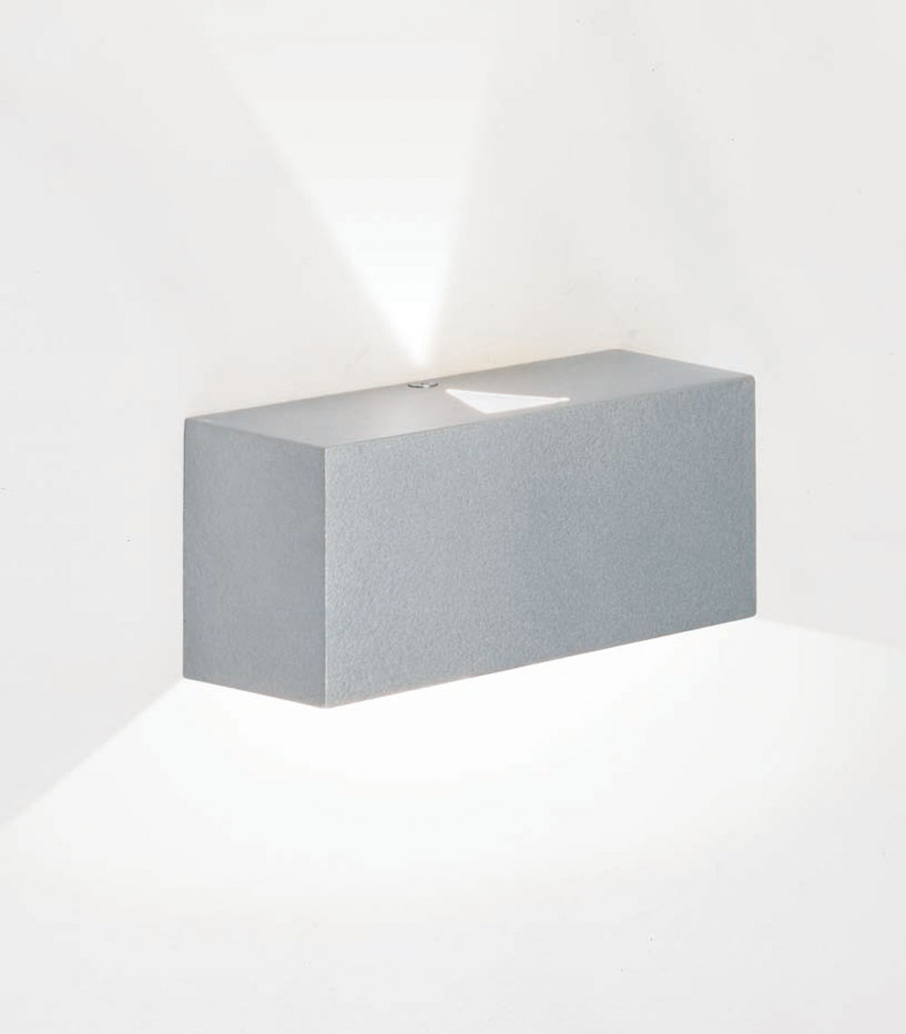 Mini Wall Lamp + Grey metallized