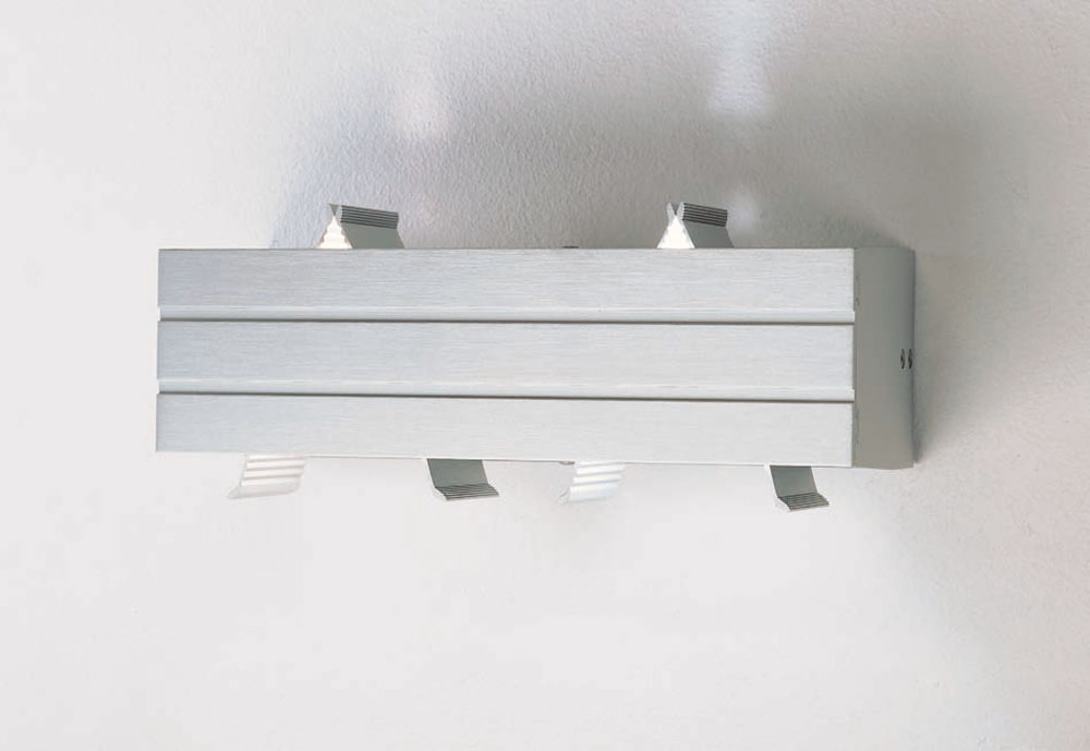 Paral lel Wall Lamp 1 light Halogen Aluminium Anodized