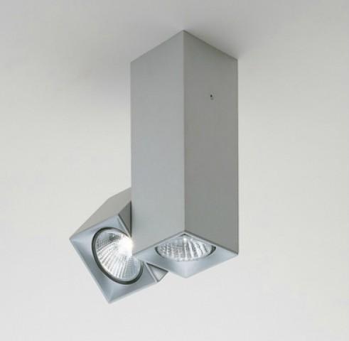Dau Spot ceiling lamp Doble 2 lights GU10 Aluminium Anodized
