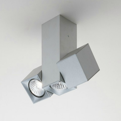 Dau Spot ceiling lamp triple 3 lights GU10 Aluminium Anodized