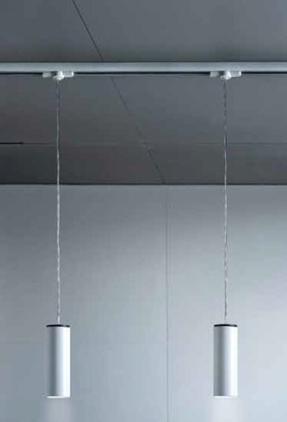 Kronn Pendant Lamp for Track 1 light ø7cm GU10 75w Chrome