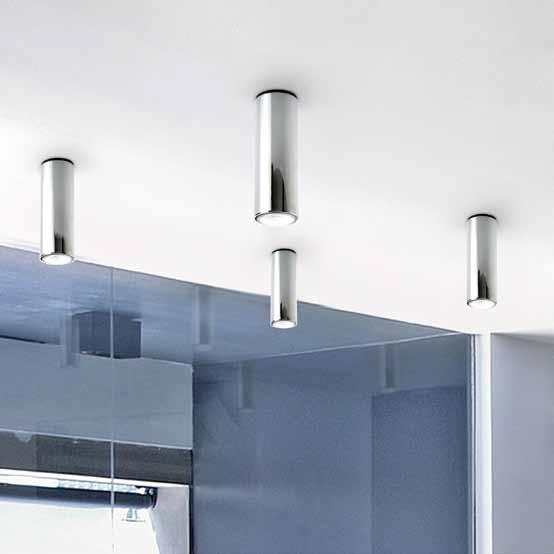 Kronn ceiling lamp 1 light ø7cm GU10 75w Chrome