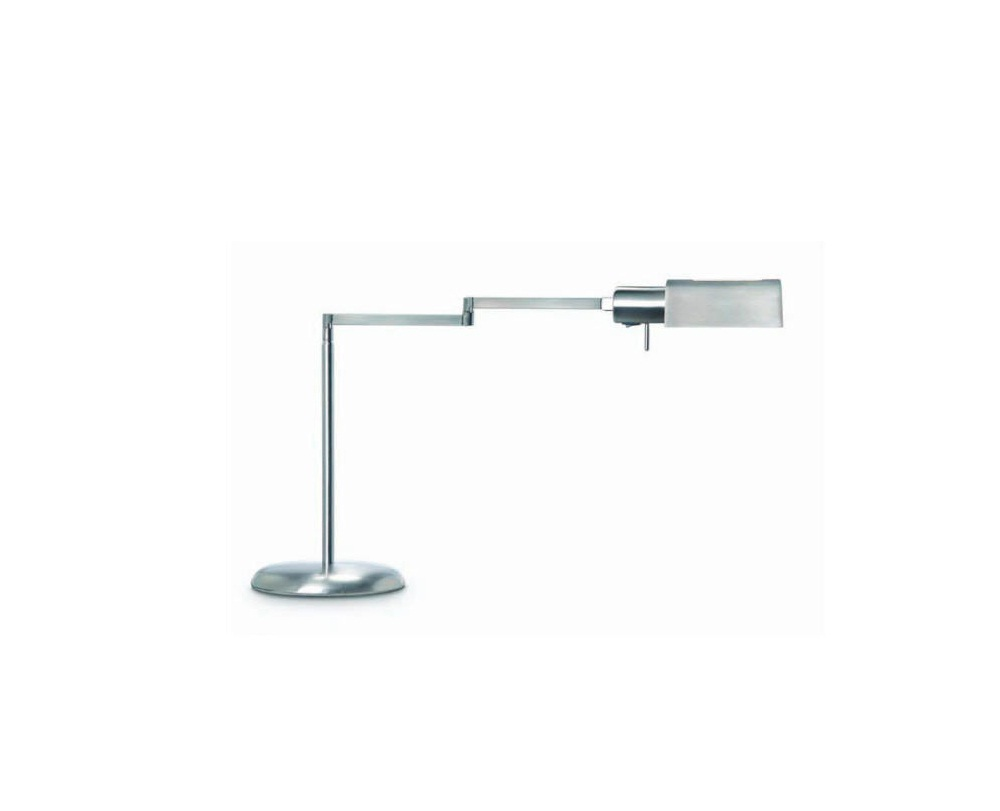Elea Table Lamp Reading G9 1x53w with lampshade Nickel Satin