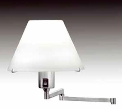 Elea Wall Lamp articulado E27 1x70w without lampshade Nickel Satin