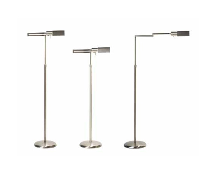 Elea lámpara of Floor Lamp articulada E27 1x70w without lampshade Nickel Satin