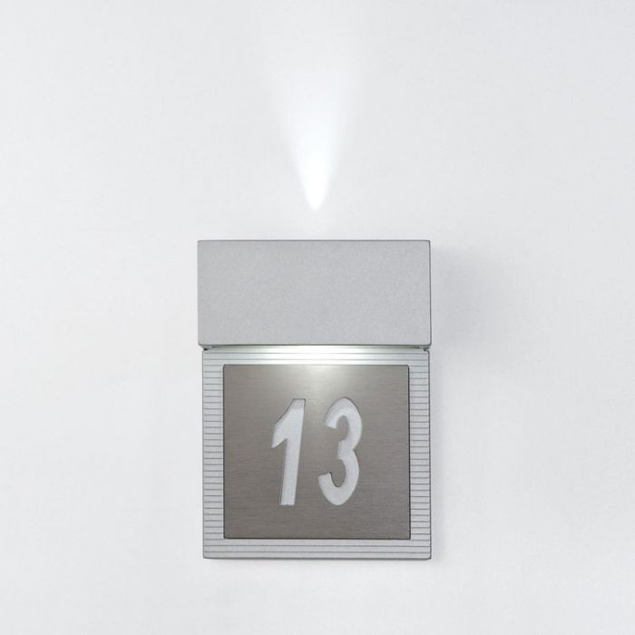 hotel Mini Wall Lamp LED Grey metallized