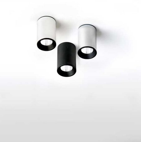 Tub LED 6437 Foco 1L Corto,Led 4w negro