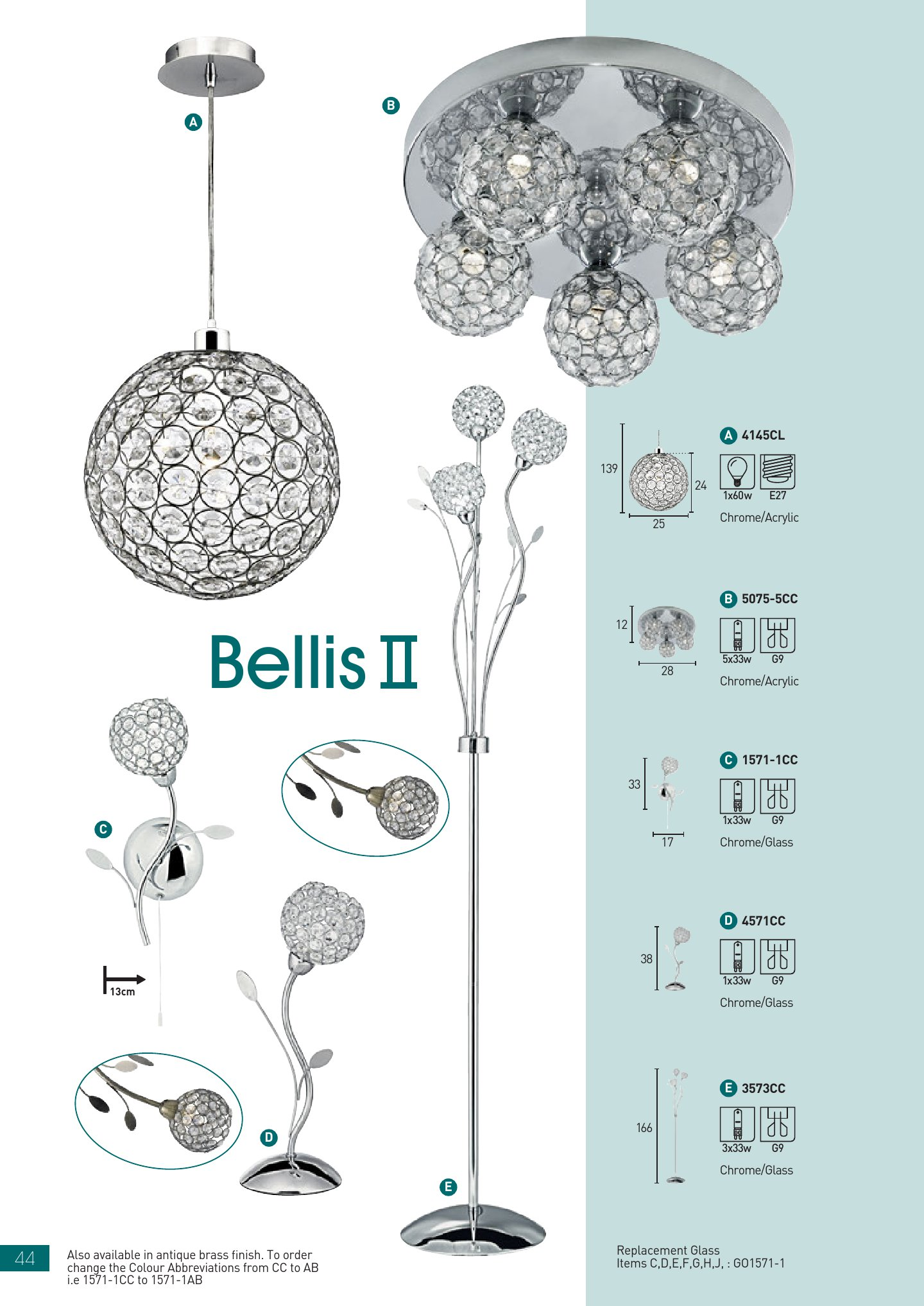 Bellis II 1571 1AB Latón