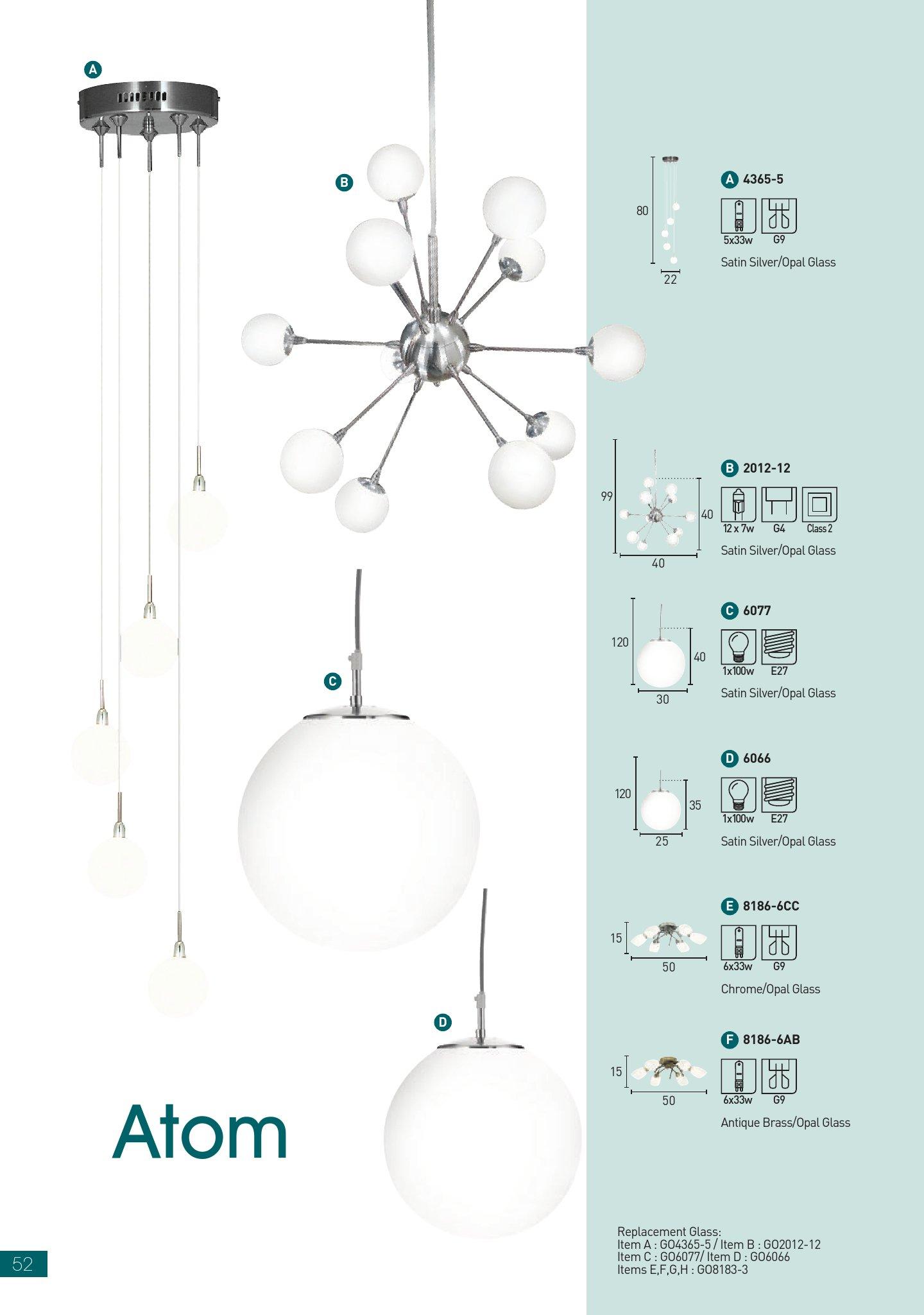 Atom Lámpara Colgante ø25 1xE27 100w Plata