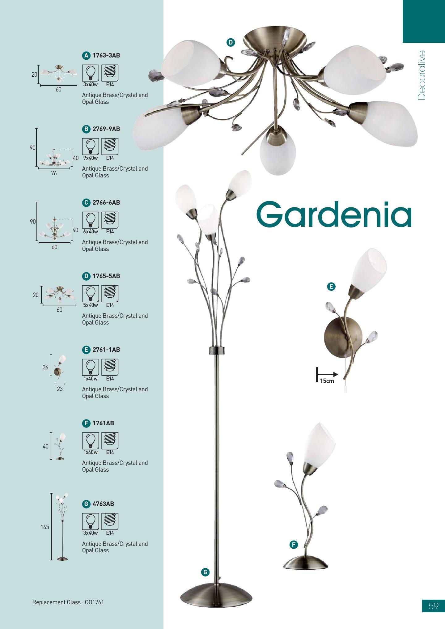 Gardenia EU1761AB Latón
