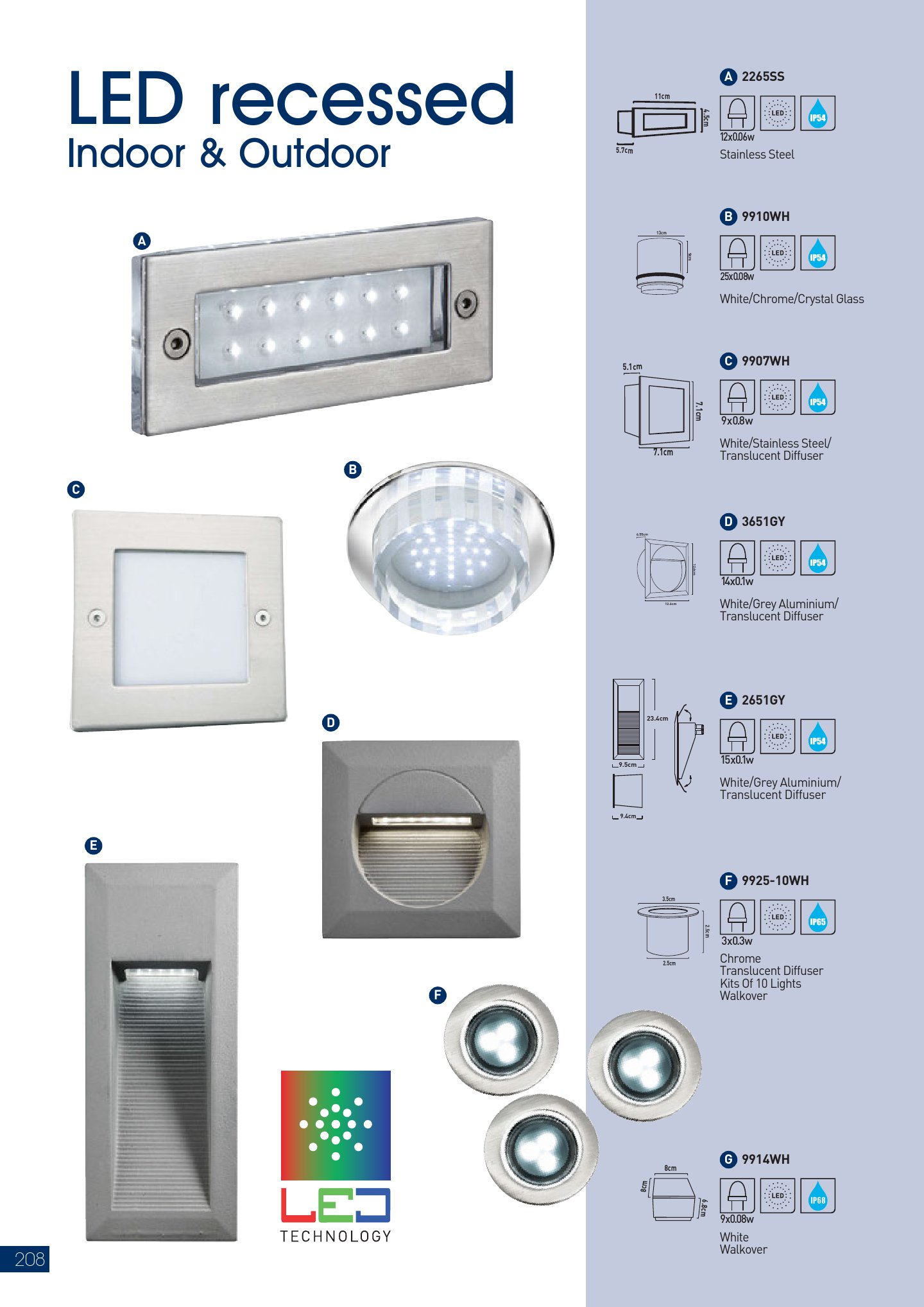 LED Empotrable 9907WH blanco