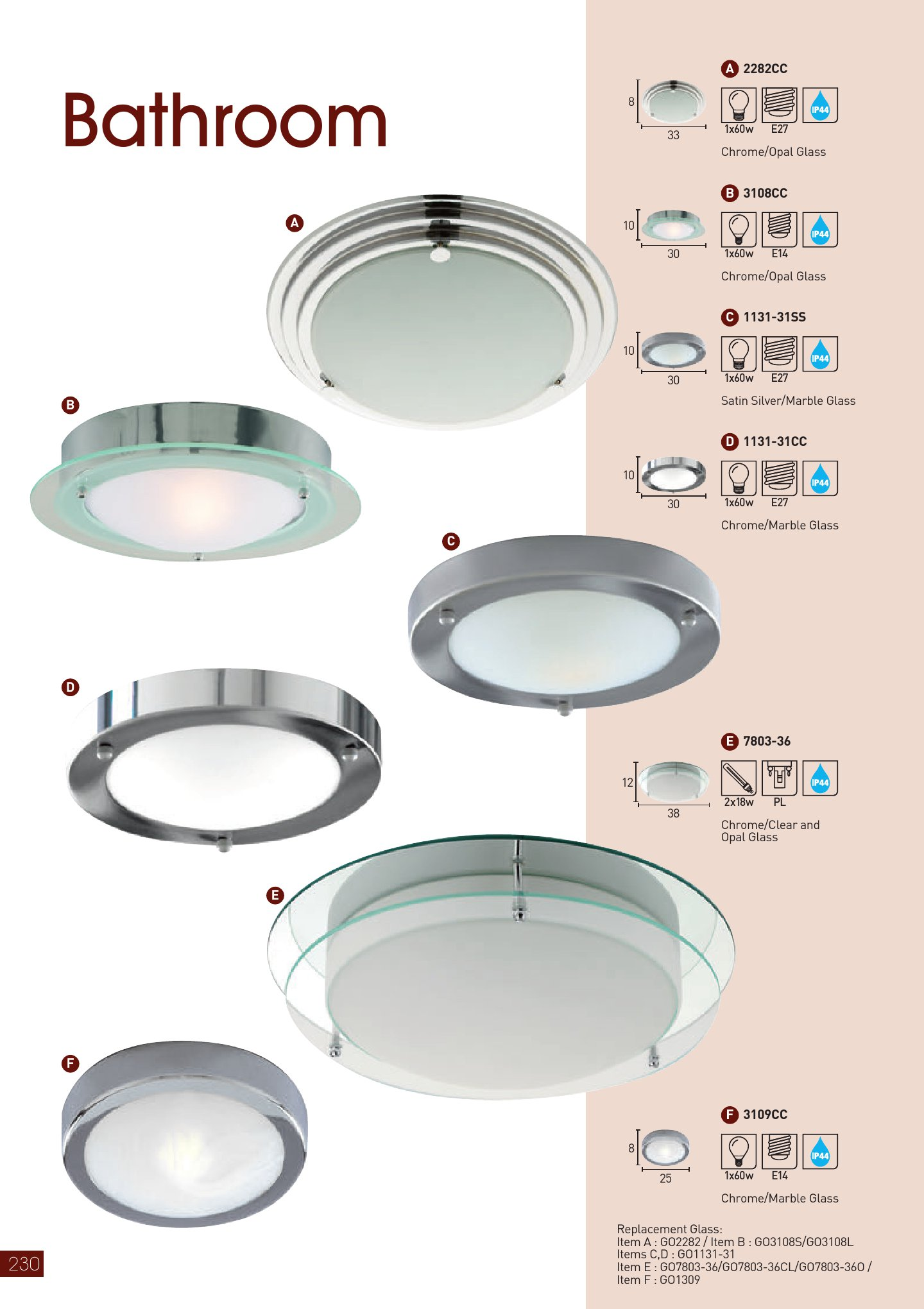 Bathroom Lights 1131 31CC Cromo