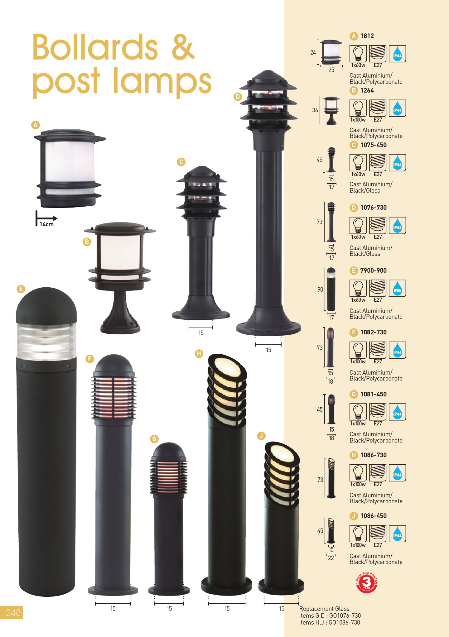 Bollards & Post Lamps 1075 450