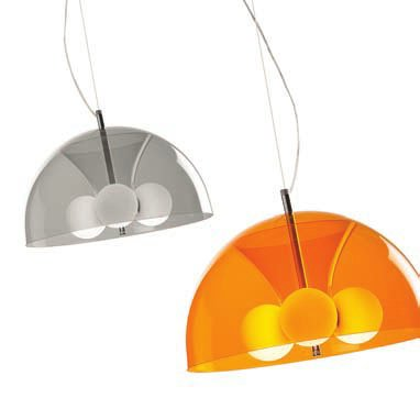 Acua 1C45 Pendant Lamp Single ø45cm Grey Ahumado