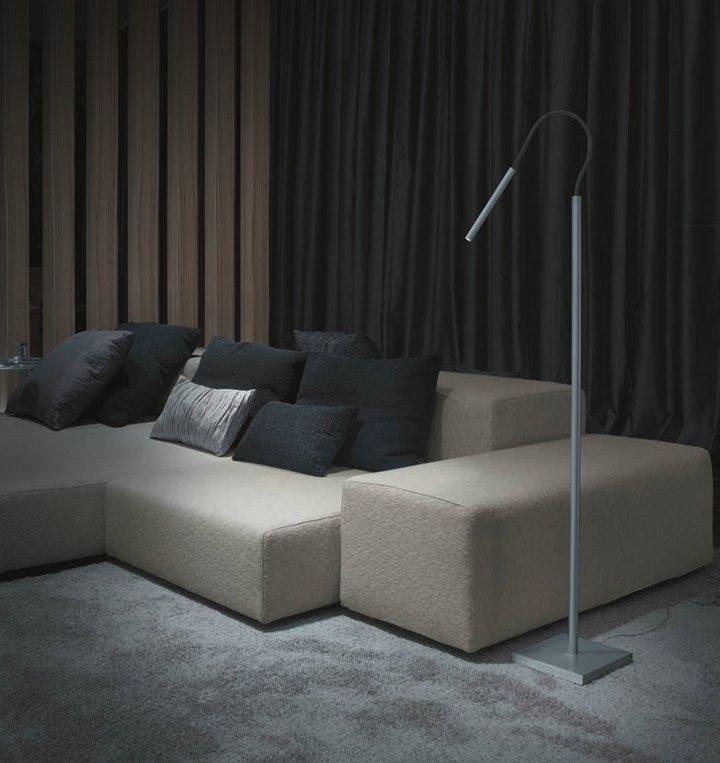 Luccas 50 lámpara of Floor Lamp LED 3w 700mA Aluminium Satin