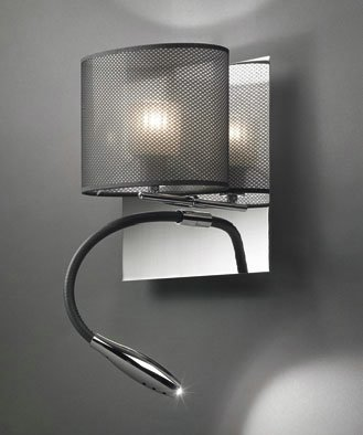 Bams oval AP20 Wall Lamp Chrome white lampshade without switch