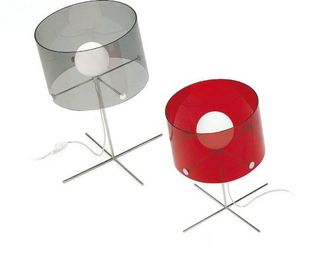 Carmen 10 Table Lamp Chrome metallized ø25cm orange
