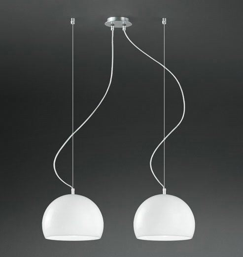 Joe 2C25 Lámpara Colgante Doble ø25cm Cromo Brillante negro