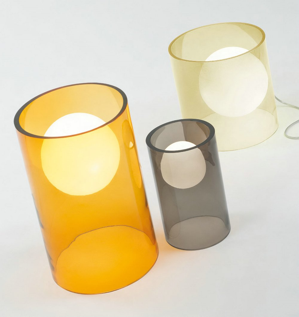 Limbo 10 Sobremesa ø15x25cm Cristal Transparente ahumado blanco
