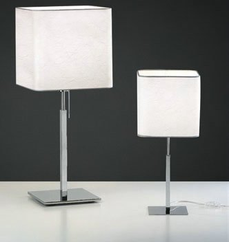 Anaca 10 Table Lamp Chrome wrinkled fabric Grey oscuro