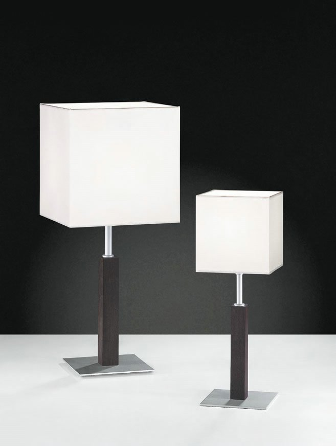 Maria 15 Table Lamp Lacquered white 35cm fabric Crude