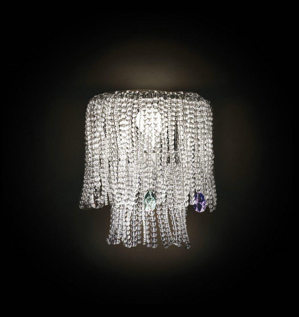 Mossi 1AP23 Wall Lamp 23cm Chrome Swarovski Glass