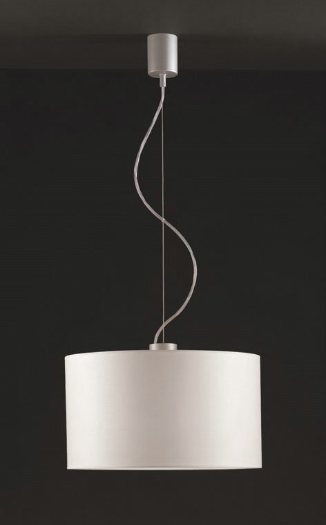 Natali 1C40 Pendant Lamp Single ø40cm Aluminium Matt mesh white